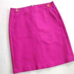 TALBOTS • Fuschia textured pencil skirt sz 10